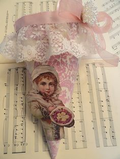 ~ tussie mussie ~ pink and ruffle
