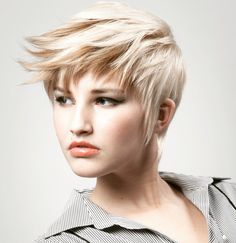 Pixie haircut with color dimension