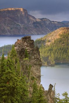 """Across Crater Lake at Wizard Island,"" Crater Lake National Park, Oregon.  Photo: Vincent James, via 500px"