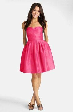 Donna Morgan Seamed Shantung Fit & Flare Dress | Nordstrom