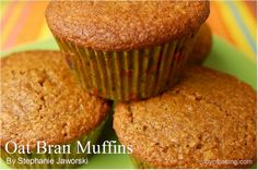 Oat Bran muffins made without applesauce - because that is the one ingredient I did not have today.