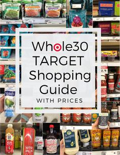 Target Grocery List with Prices – the ultimate round of of approved and compliant groceries found at Target stores. I've included the price of every item in the picture so you can keep your on budget! Whole 30 Meal Plan, Whole 30 Diet, Paleo Whole 30, Low Carb Grocery, Grocery Lists, Grocery Haul, Grocery Store, Whole 30 Snacks, Whole 30 Recipes