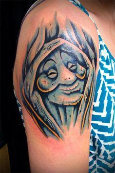 Pocohontas tree, Nick Solomon - No Ka Oi Tiki Tattoo