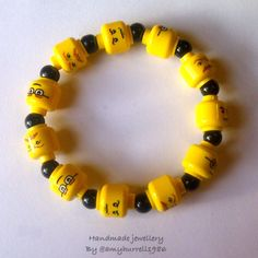 Lego heads bracelet- I want one!