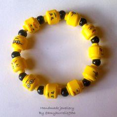 Lego heads bracelet- I want one!