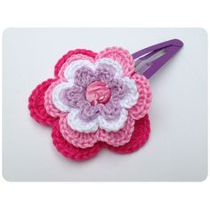 Sweet hair clip flower (L) made by sweetcrochet.nl