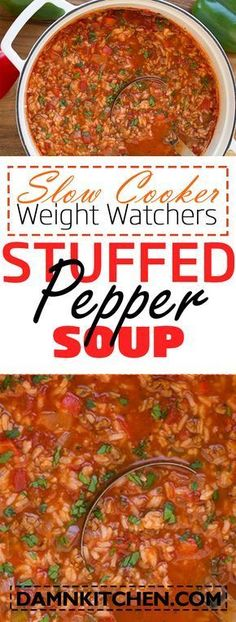 slow cooker recipes weight watchers recipes with points Stuffed Pepper Soup
