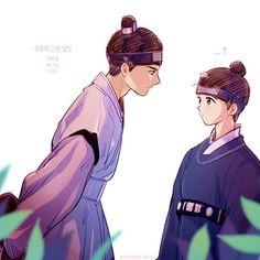 Moonlight Drawn By Clouds Fanart Korean Art, Korean Drama, Love In The Moonlight Kdrama, Love Moon, Moonlight Drawn By Clouds, Cute Love Stories, T Mo, Fanart, Kdrama Actors