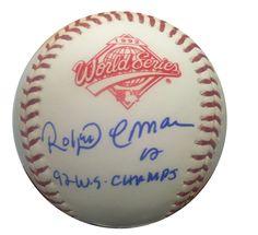 Roberto Alomar Signed 1992 World Series Baseball JSA Toronto Roberto Alomar signed 1992 World Series signed autographed