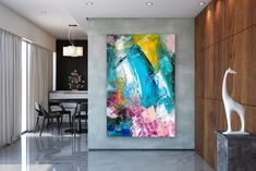 Large Abstract Painting,Modern abstract painting,bright painting art,canvas large,xl abstract painting,art with texture FY0010