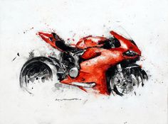 Ducati Panigale Impression v. Motorcycle Posters, Motorcycle Design, Motorcycle Style, Bike Design, Ducati Motos, Ducati 999, Moto Ducati Monster, Art Moto, Motorbike Drawing