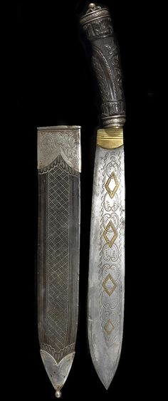 A silver-mounted Spanish Colonial dagger. Philippine Islands, 19th century