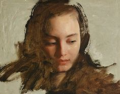 Nick Alm . oil portraiture The beautiful face with grace and volume in an unstructured background made this a work to savour.