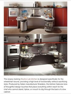 adaptive kitchen ideas | Kitchen design for the wheel chair bound. This Worktop interface is ...
