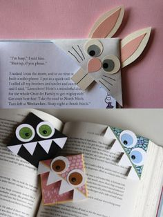homemade bookmark corners