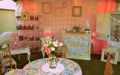 A Vintage & Shabby Chic Party - Baby Shower Ideas - Themes
