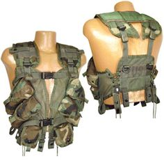 Gen II Tactical Load Bearing (LBV/LBE) Vests, Woodland Camo, USGI