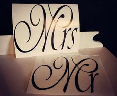 Mr & Mrs Decals