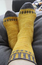 Ravelry: Self important Socks pattern by Deborah Kemball
