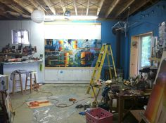 April Zanne Johnson's studio