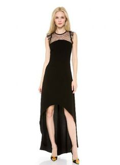 Bqueen Perspective Lace Stitching Barelegged Dress BG071  $99