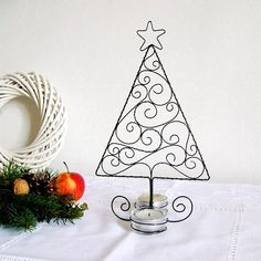 christmas candlle holder wire tree