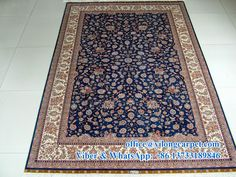 5' x 7.5' handmade oriental carpet Material: silk Quality: 400kpsi Turkish knots Contact: Ms. Amy Yu Mobile: +86 13733189846 E-mail: office@yilongcarpet.com