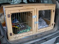 Easy Built in Dog Crates for SUV