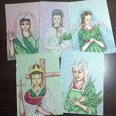 """""""Série Iconografia Religiosa"""" ( caneta Stabilo s/papel)  #art #arte #ilustração…"""