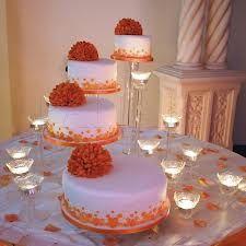 orange cascading wedding cakes - Google Search