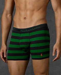Polo Ralph Lauren Men's Underwear, Rugby Stripe Stretch Cotton Jersey Boxer Brief