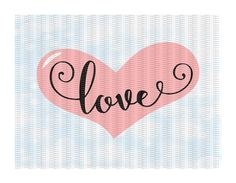 Love Heart Svg-Dxf-Eps, Cutting Files For Silhouette Cameo/ Cricut and More. by CutItUpYall on Etsy