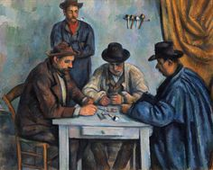Paul Cézanne, Giocatori di carte (Card players), 1892-1893, New York, Metropolitan Museum of Art, olio su tela, cm 65 x 81 cm
