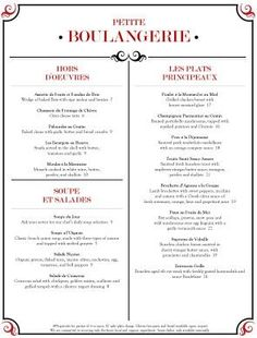 Image result for french menu