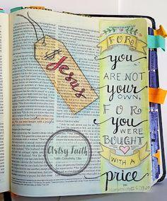 Artsy Faith | I Belong to God #Bible #Art #Journaling #Faith #Scripture #Illustrated