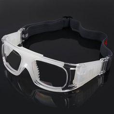 7f50b330b46 Anti-shock Basketball Glasses Sports Safety Goggles Soccer Football Eyewear  - Transparent  men