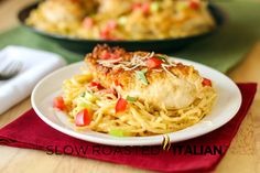 Olive Garden Copycat Chicken Vino Bianco ~ via The Slow Roasted Italian