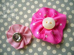 It's day 2 of Flower Week, and we've got one of our quickest projects ever for you! Ribbon flowers are super simple to make, and they can b...