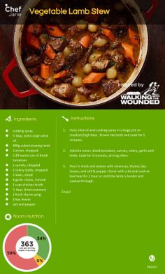 Vegetable Lamb Stew -- a healthier version of what Team Noom Coach is eating! #SouthPole2013