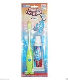 NEW-Dr. Fresh Smiley Gripper Toothbrush with Kid's Crest Paul the Octopus Green  - Re-listed February 4, 2014