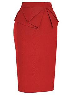 Shop PrettyCom Vintage Dress Women's High Waist Stretch Bodycon Pencil Skirt Solid Black (S) Free delivery and returns on eligible orders. Pencil Skirt Dress, Pencil Skirt Outfits, Pencil Skirts, Skirt Fashion, Fashion Dresses, Corporate Fashion, Elegant Dresses, Chic Outfits, African Fashion