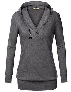 Timeson Womens Long Sleeve Knitted Panel Hooded Casual Sweatshirt