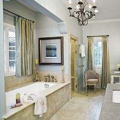 Luxurious Master Bathrooms | Neutral Master Bathroom | SouthernLiving.com