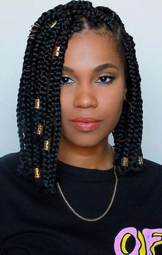 23 Short Box Braid Hairstyles Perfect for Warm Weather StayGlam - 23 Short Bo . - 23 Short Box Braid Hairstyles Perfect for Warm Weather StayGlam – 23 Short Box Braid Hairstyles P - Short Box Braids Bob, Chunky Box Braids, Box Braids Hairstyles For Black Women, Blonde Box Braids, African Braids Hairstyles, Long Braids, Braids For Black Hair, Summer Hairstyles, Braid Hairstyles