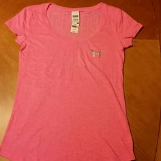 *ON HOLD* NWT PINK VS tee and Sleepwear tank NWT PINK VS short sleeve tee...silver dog on front and PINK in silver across the top back...size small..tags still on never even tried on..no rips or stains, Sleepwear mint tank size small nwt PINK Victoria's Secret Tops Tees - Short Sleeve
