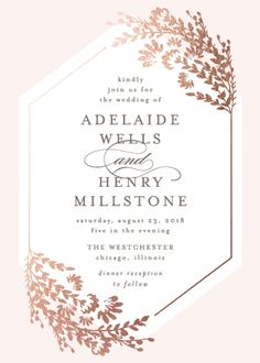 Wildflowers Wedding Invitation by Lehan Veenker
