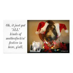 a very James Garfield Christmas Photo Greeting Card