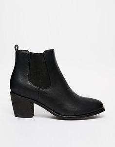 Image 2 ofDaisy Street Black Heeled Chelsea Boot