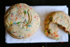 "Funfetti Cookies: The ""fun"" of funfetti in cookie form -- without using boxed cake mix!"