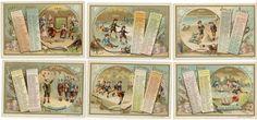 1891 - COMPAGNIE LIEBIG - 70 x 103 mm - CALENDRIER 1891. Série complète des 6[...]   Auction.fr